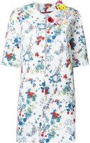 Antonio Marras floral print coat - women - Cotton/Polyurethane - 46