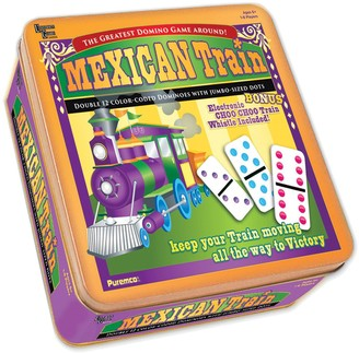 University Games Mexican Train Double 12 Color Dot Dominoes - Professional Size