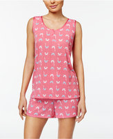 Charter Club Tank Top And Boxer Shorts Printed Pajama Set, Only at Macy's