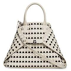 Akris Women's Medium AI Woven Leather Tote