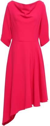 Osman Draped Cutout Crepe Dress