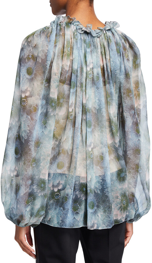 Thumbnail for your product : Jason Wu Collection Firefly-Printed Chiffon Top