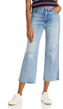Joe's Jeans The Blake Cotton Cropped Wide Leg Jeans in Michaela