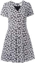 MICHAEL Michael Kors leaf print flared dress