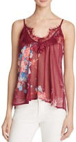 Band of Gypsies Lace Trimmed Floral Print Tank - 100% Bloomingdale's Exclusive