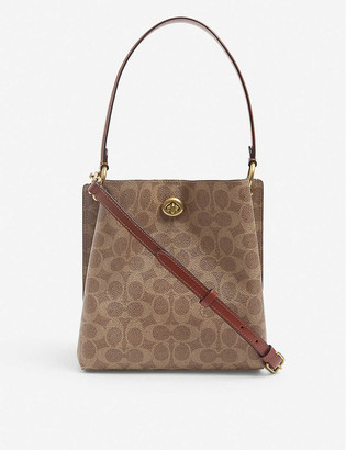 Coach Charlie coated-canvas and leather bucket bag