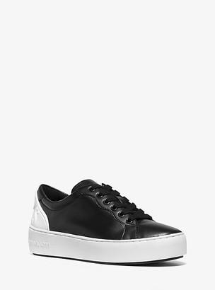 Michael Kors Khloe Two-Tone Leather Sneaker