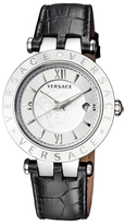 Versace V-Race Silver-Tone Dial Medusa Watch, 42mm