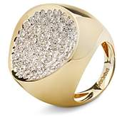 Antonini 18K Yellow Gold Matera Extra Large Pave Silvermist Diamond Ring