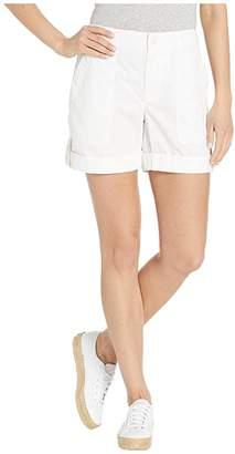 Lauren Ralph Lauren Cotton Twill Shorts (White) Women's Clothing