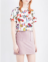 Opening Ceremony All Countries cotton-jersey cropped t-shirt