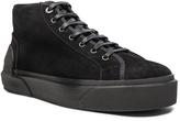 Lanvin Mid Top Spray Suede Sneakers