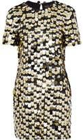 Rachel Zoe Sequined Cotton-Jersey Mini Dress