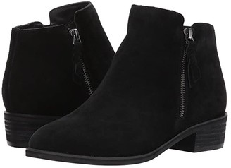 Blondo Liam Waterproof Bootie (Black Suede) Women's Zip Boots