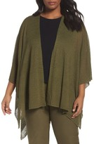 Eileen Fisher Plus Size Women's Hemp Blend Poncho Wrap