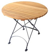 """Dowe Folding Dining Table August Grove Table Size: 33"""", Umbrella Hole: No"""