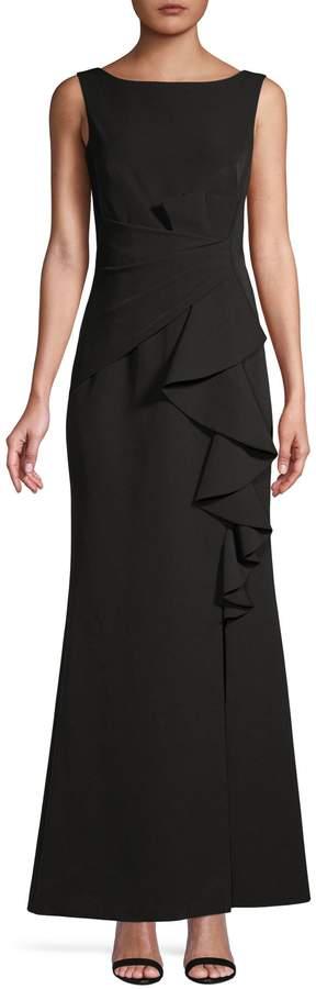 Eliza J Drapey Sleeveless Gown