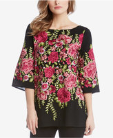 Karen Kane Embroidered Roses Top