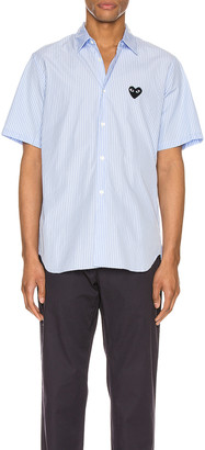 Comme des Garcons Striped Shirt in Blue | FWRD