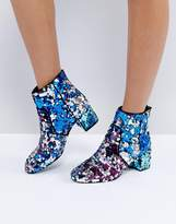 Asos RAINBOW Sequin Ankle Boots