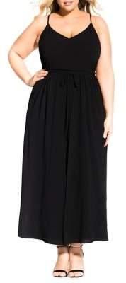 City Chic Plus Divine Overlay Maxi Dress