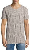 Nudie Jeans Geometric Puzzle Graphic T-Shirt, Black/Beige