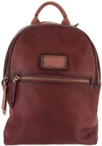 PIKOLINOS Leather Zip Top Backpack