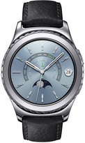 Samsung Unisex Gear S2 classic Smart Watch with 40mm Platinum-Plated Case & Black Leather Strap SM-R7320WDAXAR