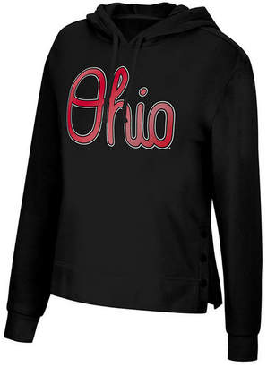 Top of the World Women Ohio State Buckeyes Snap Hem Hooded Sweatshirt