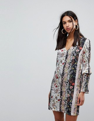 Morgan Mix n Match Floral Shift Dress-Multi