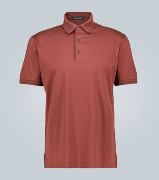 Ermenegildo Zegna Honeycomb cotton-jersey polo shirt