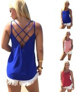Kinghard® Kinghard Women Casual Loose Strap Hollow Out Back Camisole Tank Tops (S, )