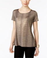 NY Collection Metallic T-Shirt