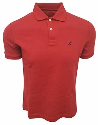 Nautica Men's Slim Fit Short Sleeve Solid Soft Cotton Polo Shirt