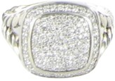 David Yurman Albion Pave 0.59cts Diamond 925 Sterling Silver Ring Size 7