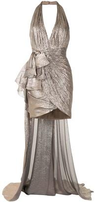 ZUHAIR MURAD Ruffle Drape Gown