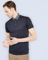 JEFFRAY Woven Jersey polo shirt