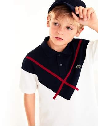 Lacoste Boys' Made In France Jacquard Pique Polo Shirt