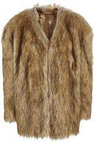 Topshop LFW **Faux-Fur Chubby Coat