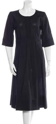Chloé Three-Quarter Sleeve Midi Dress
