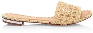 Schutz Zaila Flat Raffia Sandals