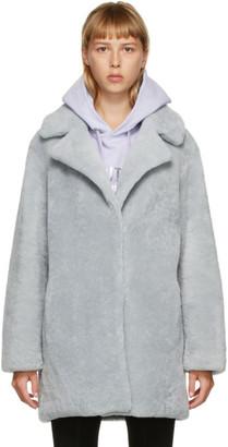 Yves Salomon Meteo Grey Shearling Coat