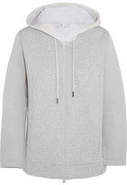 adidas by Stella McCartney Bonded Jersey Hooded Top - Gray