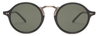 Oliver Peoples Kosa Round Acetate Sunglasses - Black