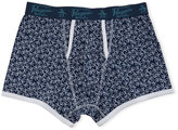 Original Penguin Logo-Print Trunks, Navy/White