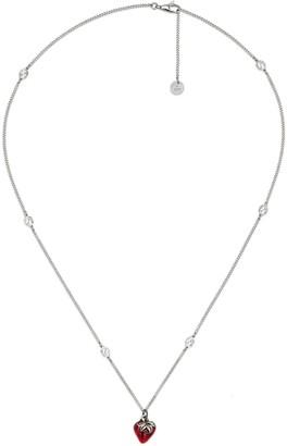 Gucci Interlocking G necklace with strawberry