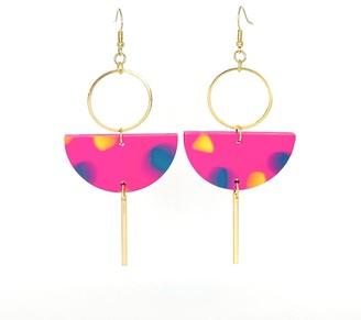 Eclipse Earrings - Pink Confetti