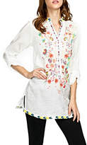 Adore Embroidered Mandarin Blouse