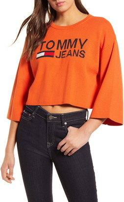 Tommy Jeans Crop Logo Sweater