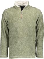 True Grit Green Plaid Half-Zip Pullover